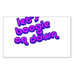 Boogie Down Sticker (Rectangle)