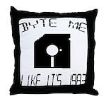 Byte Me 1983 Throw Pillow