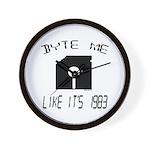 Byte Me 1983 Wall Clock