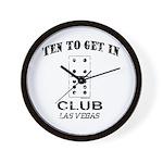 Club 10 Wall Clock