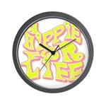 Hippie for Life Wall Clock