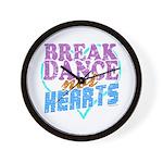 Break Dance not Hearts Wall Clock