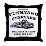 Funkyard Junkyard Throw Pillow