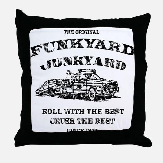 Funkyard Junkyard Throw Pillow