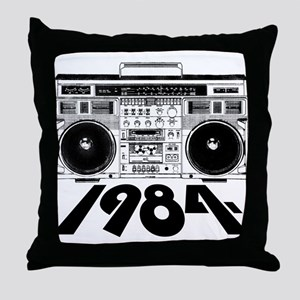 1984 BoomBox Throw Pillow
