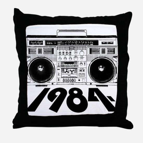 1984 BoomBox Throw Pillow