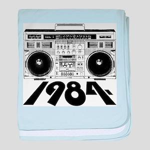 1984 BoomBox baby blanket