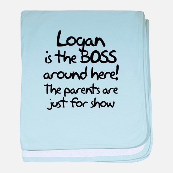 Logan is the Boss baby blanket