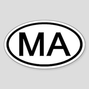Massachusetts - MA - US Oval Oval Sticker