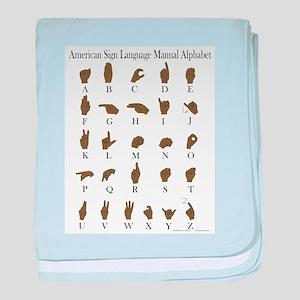 ASL Alphabet baby blanket