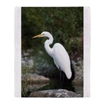 Great Egret Throw Blanket