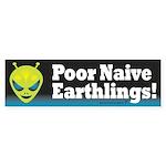 Alien: Poor Earthlings Sticker (Bumper)