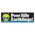 Alien: Silly Earthlings Sticker (Bumper)