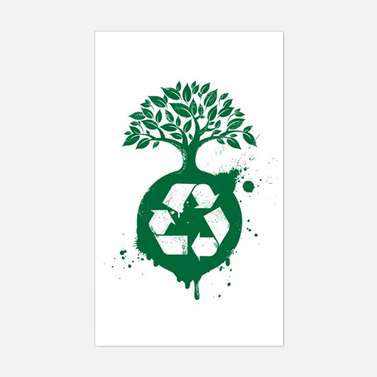 Recycle Sticker (Rectangle)