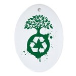 Recycle Ornament (Oval)