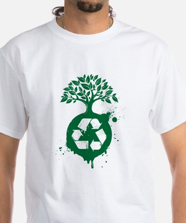 Recycle White T-Shirt