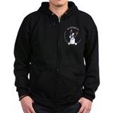Funny boston terrier Zip Hoodie (dark)