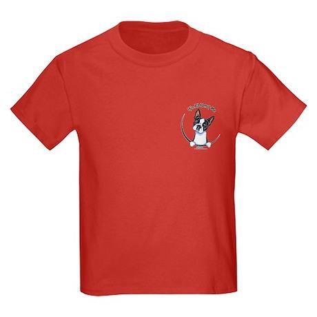 Funny Pocket Boston Kids Dark T-Shirt