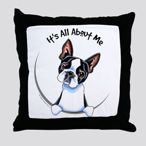 Boston Terrier IAAM Throw Pillow