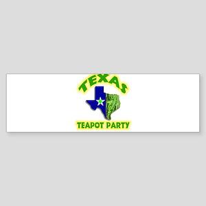 Texas Teapot Party Sticker (Bumper)