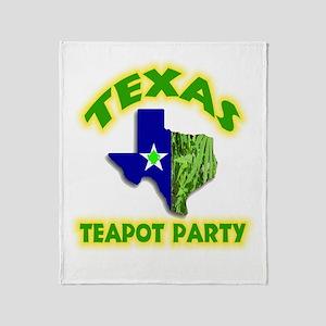 Texas Teapot Party Throw Blanket