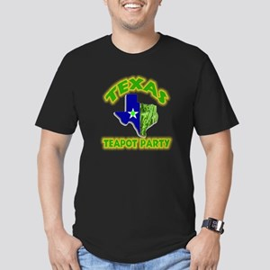 Texas Teapot Party Men's Fitted T-Shirt (dark)