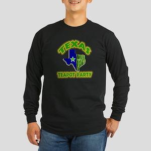 Texas Teapot Party Long Sleeve Dark T-Shirt