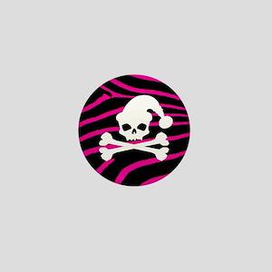 Goth Santa Skull Mini Button