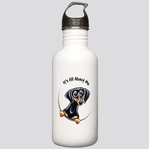Black Tan Dachshund Stainless Water Bottle 1.0L