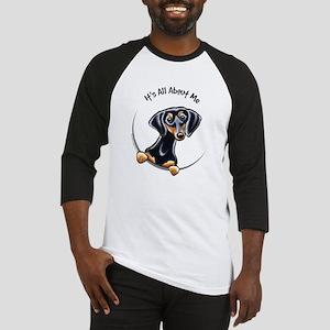 Black Tan Dachshund Baseball Jersey