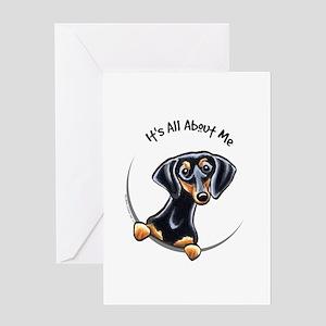 Black Tan Dachshund Greeting Card
