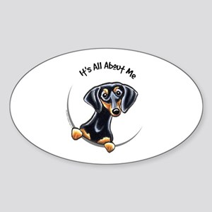 Black Tan Dachshund Sticker (Oval)