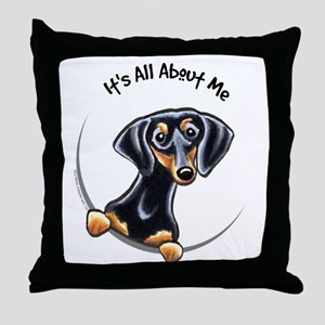 Black Tan Dachshund Throw Pillow