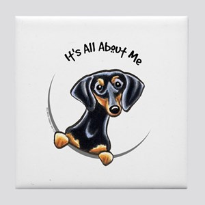 Black Tan Dachshund Tile Coaster
