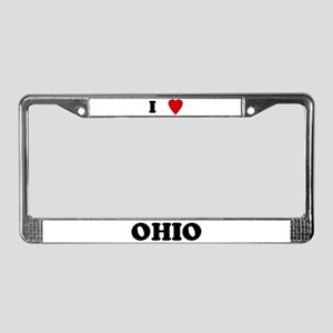 I Love Ohio License Plate Frame