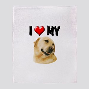 I Love My Lab Throw Blanket