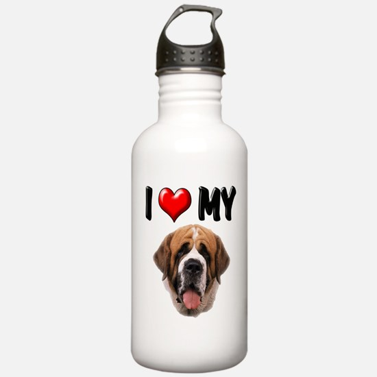 I Love My St. Bernard Water Bottle