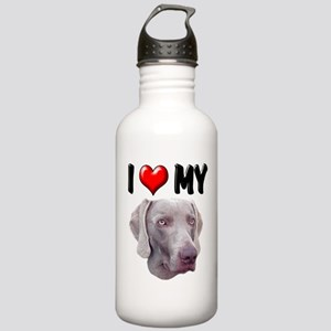I Love My Weimer Stainless Water Bottle 1.0L