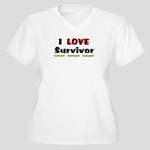 Survivor fan Women's Plus Size V-Neck T-Shirt