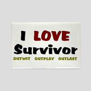 Survivor fan Rectangle Magnet