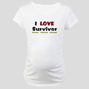 Survivor fan Maternity T-Shirt