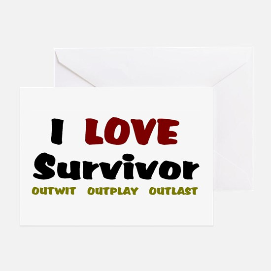 Survivor fan Greeting Card