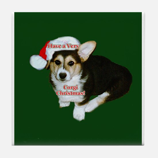 Have a Very Corgi Christmas Tile Coaster