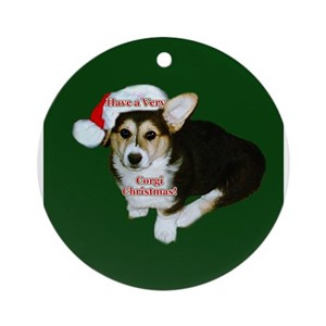 welsh corgi ornaments cafepress - Corgi Christmas Ornaments