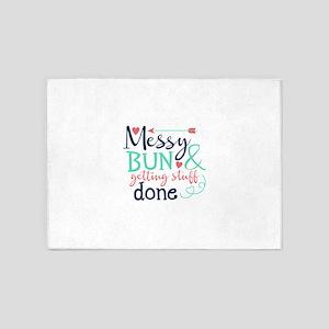 Messy bun amp; getting stuff done 5'x7'Area Rug