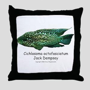 Cichlasoma octofasciatum Throw Pillow