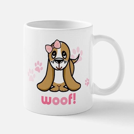 Woof! Basset Hound Mug