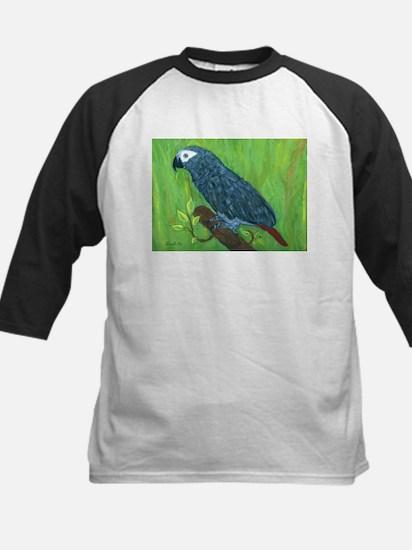 African Grey Parrot Kids Baseball Jersey