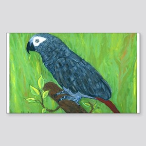 African Grey Parrot Rectangle Sticker