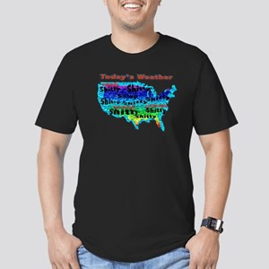 Today's Weather Men's Fitted T-Shirt (dark)